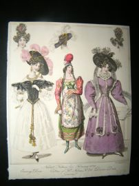 World of Fashion 1829 Hand Col Fashion Print 10. Greek Costume